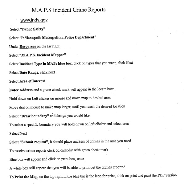 maps incident crime reports