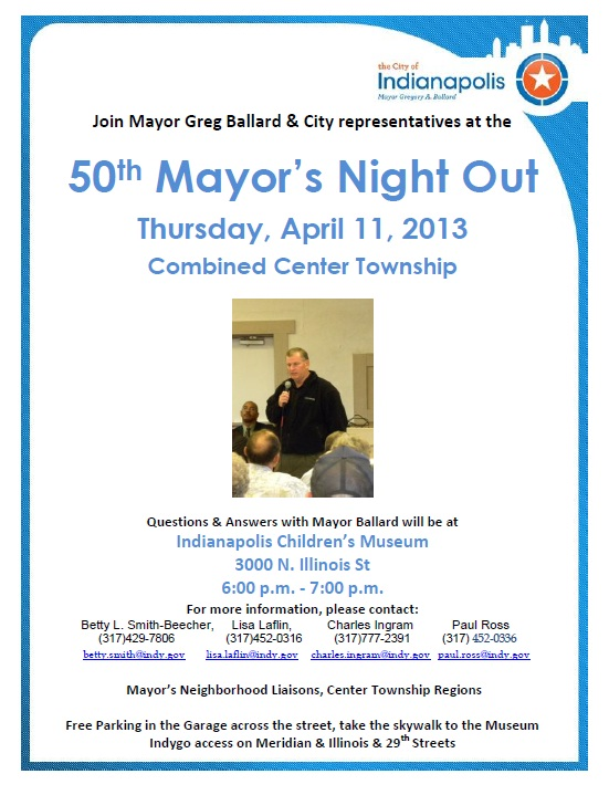 Mayors Night Out Flyer --Center Township