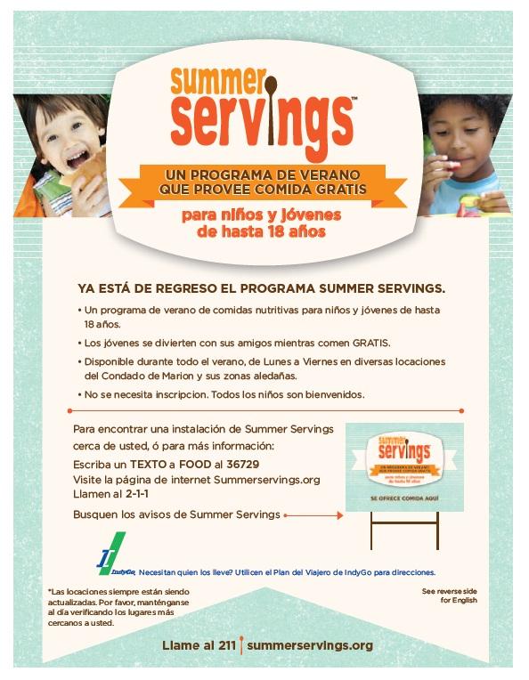 Summer Servings Spanish