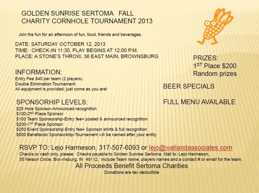 East 10th UMC Cornhole October Flyer 2013