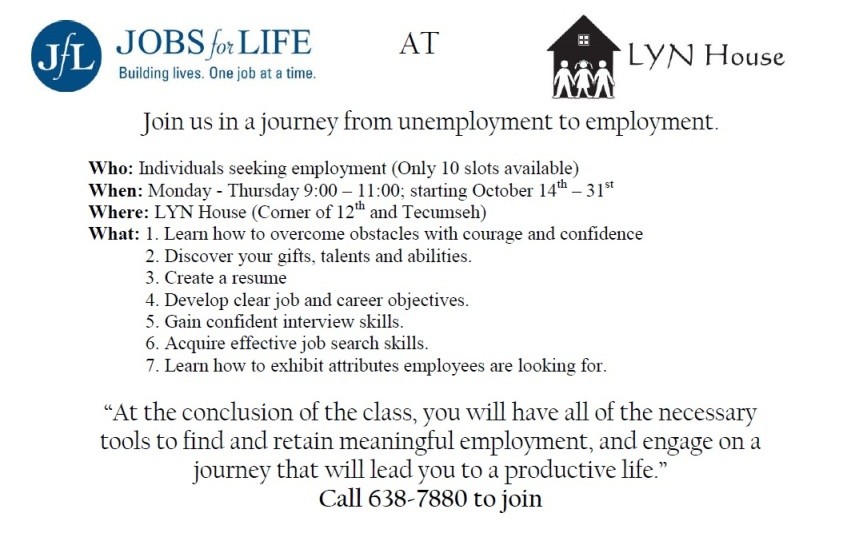 Jobs for Life LYN House