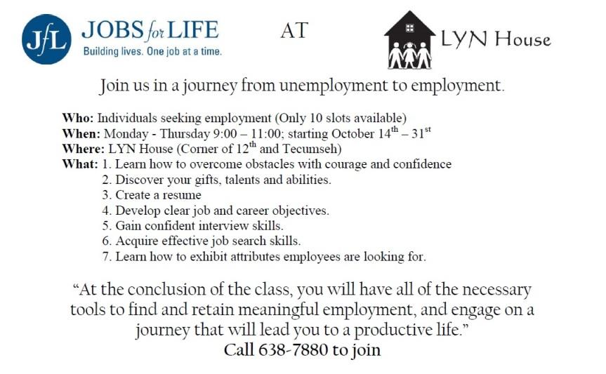 Jobs for Life LYN House
