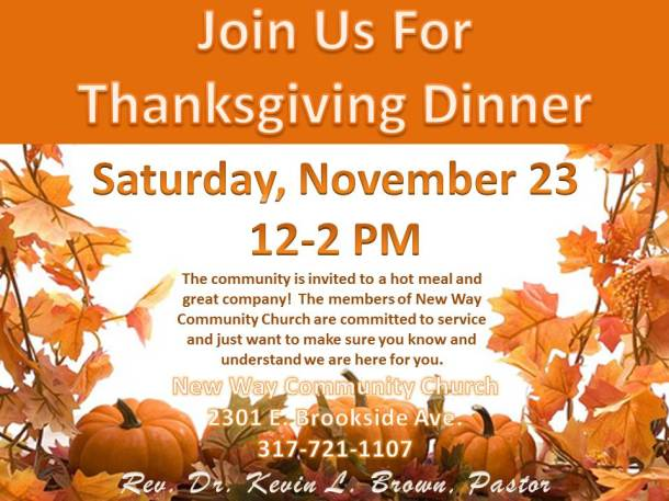 New Way Community Church Thanksgiving