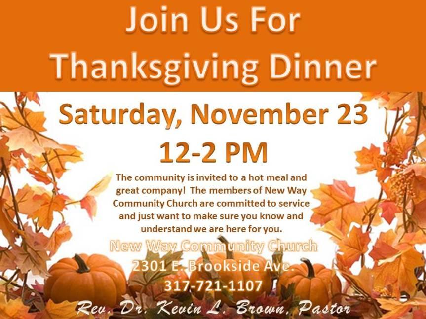 New Way Community Church Thanksgiving