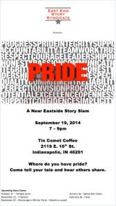 Pride Story Slam Poster